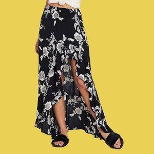 Billabong Skirts - Billabong Kick Twist Floral Maxi Skirt